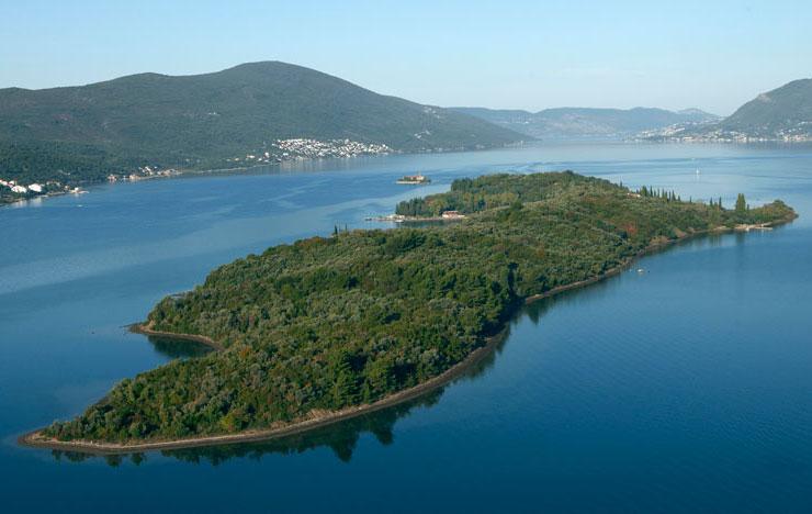 Остров Святого Марко почти полностью покрыт густым слоем из зеленой растительности