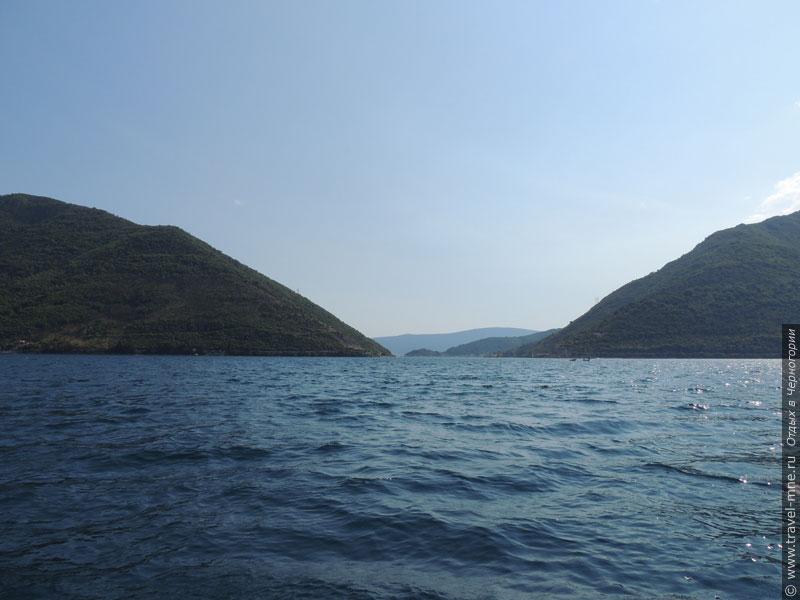 Пролив Вериге - самая узкая часть Бока-Которской бухты