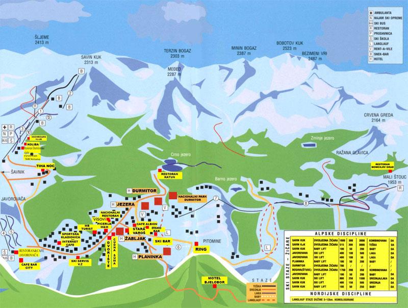 План-схема трасс горнолыжного