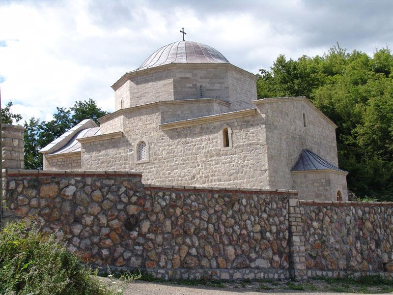 Церковь монастыря Заградье возведена в честь Святого Иоанна Крестителя