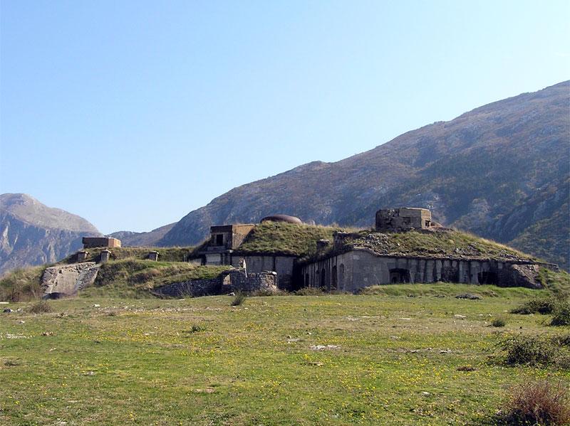 Большая часть крепости Горажда скрыта под землей