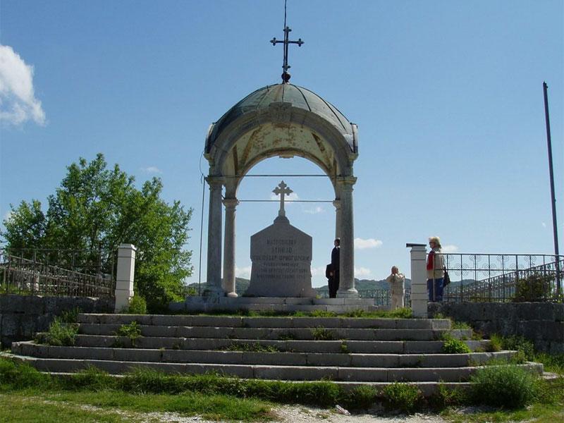 Мавзолей владыки Данило - самая высокая обзорная площадка в Цетине