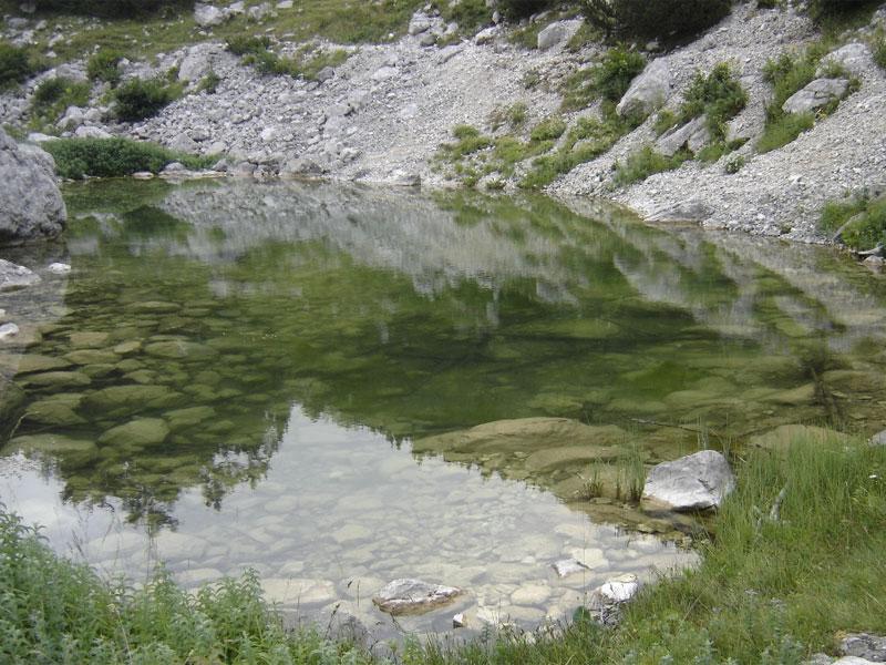 Озеро Срабле одно из самых маленьких в Дурмиторе