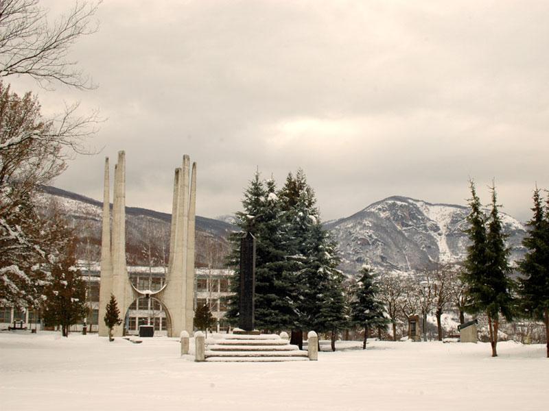 Памятные монументы - центральная часть всего мемориального парка Князевац